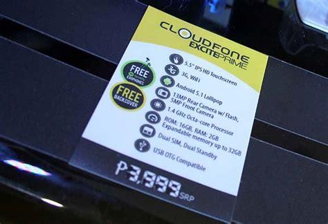 cloudfone excite prime octa core cpu gb ram