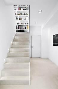 Hauseingang Treppe Modern : betontreppe im neubau ja unbedingt stylisch und modern interior treppenhaus beton wei ~ Yasmunasinghe.com Haus und Dekorationen