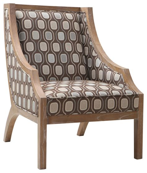 solid wood accent chair multi colored fabric