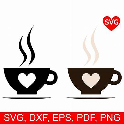 Cricut Svg Coffee Cup Silhouette Clipart Smoking