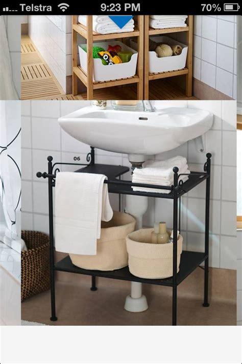 easy vanity  hide ugly bathroom pipes ikea bathroom