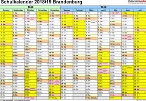 Ferien Nrw 2018 19 : schulkalender 2018 2019 brandenburg f r pdf ~ Buech-reservation.com Haus und Dekorationen