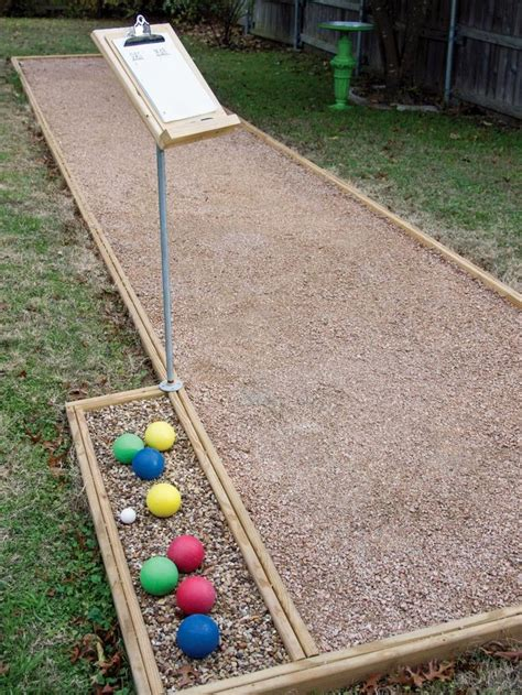 backyard bocce court build an outdoor bocce court homemade side yards and sun