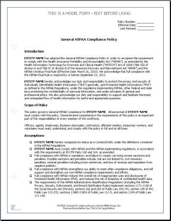 compliance policy template hipaa compliance form for employees pike productoseb co
