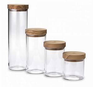 Pot Verre Couvercle : francis batt pot en verre 1 5 litre avec couvercle herm tique en olivier 10 cm h 31 cm ~ Teatrodelosmanantiales.com Idées de Décoration