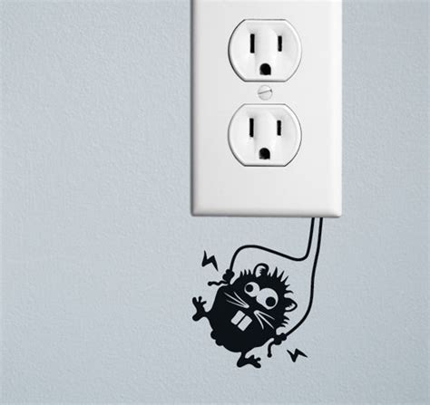 Creative And Wall Socket Stickers by 20 Creative Wall Outlet Stickers And Covers For Your