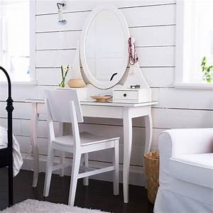 Coiffeuse Blanche Ikea : 20 coiffeuses dans tous les styles pour une vraie chambre de fille coiffeuse hemnes ikea ~ Teatrodelosmanantiales.com Idées de Décoration