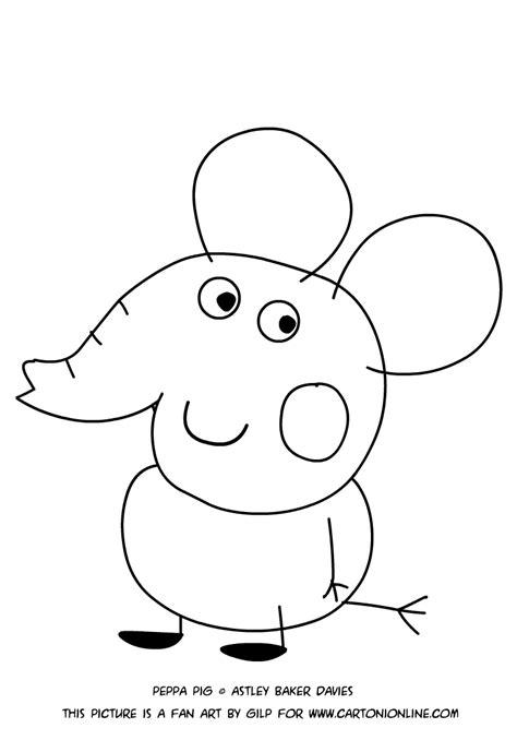 disegno  edmond elefante da colorare
