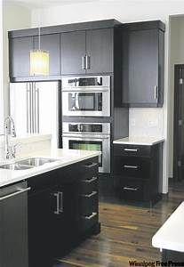 Dark expresso cabinets topped with white quartz for Kitchen designs with white cabinets and black countertops