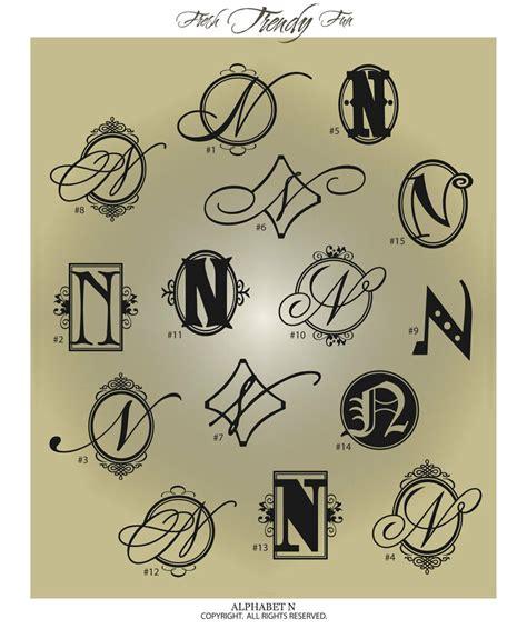 fancy monogram letter  vinyl wall decal sticker alphabet home decor ebay