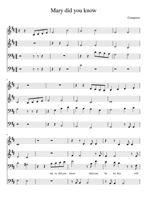 It is suitable for beginners and eraly intermediate piano players. Mary Did You Know- Pentatonix (4 voices) sheet music for Piano download free in PDF or MIDI