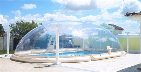 un abri de piscine gonflable sur mesure equipement entretien piscinespa