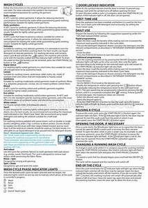 Indesit Bi Wmil 71452 Washer Quick Guide