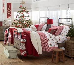 christmas bedroom themed bedding for twin beds from With christmas sheets pottery barn