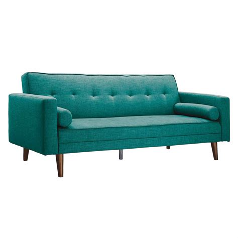 Dfs Teal Blue Double Sofa Bed