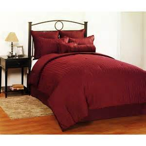 dobby stripe 8 piece queen bedding set burgundy bedding