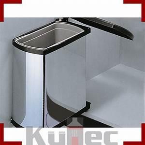 Mülleimer Für Küche : abfallsammler 18 l edelstahl optik 45 cm schrank einbau ~ Michelbontemps.com Haus und Dekorationen