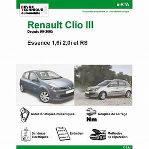 Filtre Essence Clio 2 : revue technique renault clio iii essence 1 6i 2 0i et rs rta site officiel etai ~ Gottalentnigeria.com Avis de Voitures
