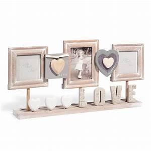 Cadre Photo A Poser : cadre photo poser en bois 23 x 50 cm cl des champs maisons du monde ~ Teatrodelosmanantiales.com Idées de Décoration