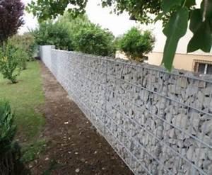Mur En Gabion : mur de cl ture en gabions stonekit ~ Premium-room.com Idées de Décoration