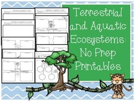 Ecosystems Worksheets & Printables  Aquatic Ecosystem, Keys And Worksheets