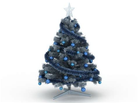 blue christmas tree  model ds max files