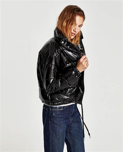 frühlingsjacken damen zara steppjacke aus vinyl neuware damen zara deutschland jackets steppjacke jacken i steppen