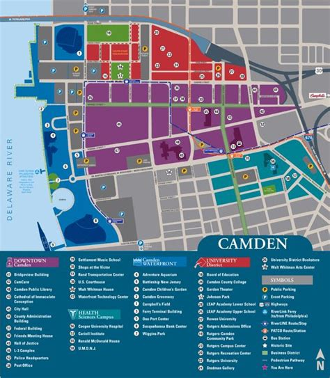 Very Clean And Colorcoordinated {camden University Map