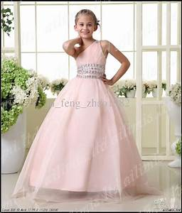 girls pageant dresses beads flower girl kids princess With wedding dresses for kids