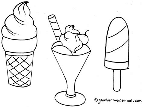 Ice Cream Coloring Pages To Print Castrophotos
