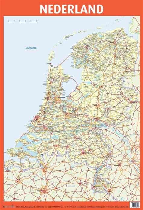 large detailed road map  netherlands netherlands