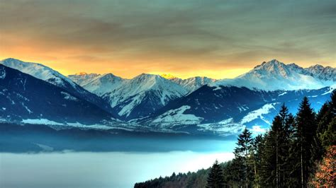 Free Mountain And Winter Wallpapers Hd Pixelstalknet