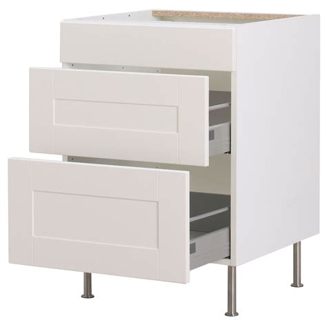 White Cabinet With Drawers by Kitchen Cabinets Akurum Base Cabinet With 3 Drawers