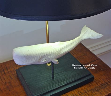 carved wood white whale table l folk carving by j