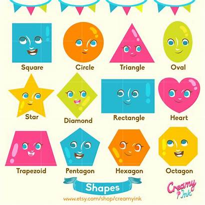 Shapes Clipart Clip Preschool Digital Kindergarten Educational