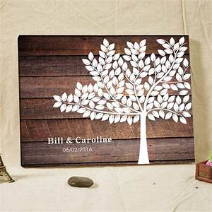 Personalized Wedding Tree Guest Book Canvas Fingerprint