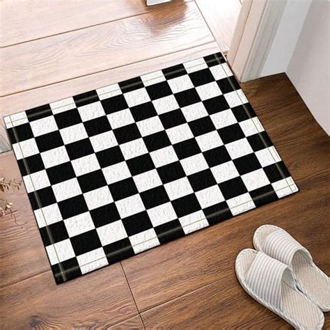 20 Gorgeous Black and White Bathroom Rugs Under $70