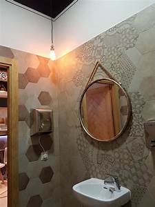 hexagonal mirror tiles hexagonal tile you ll love wayfair With best brand of paint for kitchen cabinets with honey bee stickers