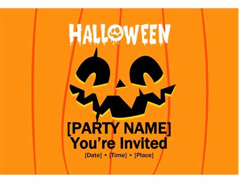 Jack o' lantern Halloween party invite