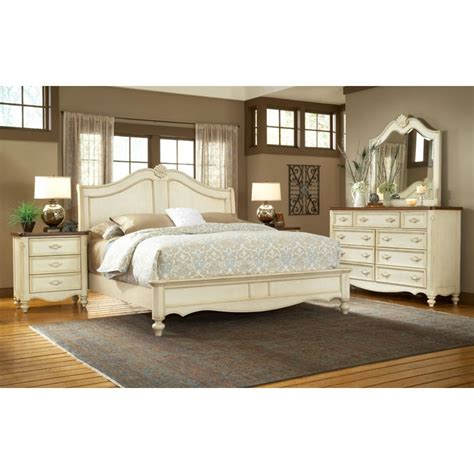 Country Bedroom Set by Chateau Country Sleigh Bedroom Set Dcg Stores
