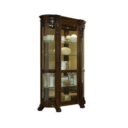 curio cabinets walmart pulaski foxcroft curved end curio cabinet walmart