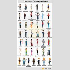 Learn Jobs And Occupations Vocabulary Through Pictures  Esl Buzz