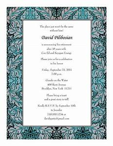 Retirement Party Program Template Retirement Party Invitations Templates Print Your Own
