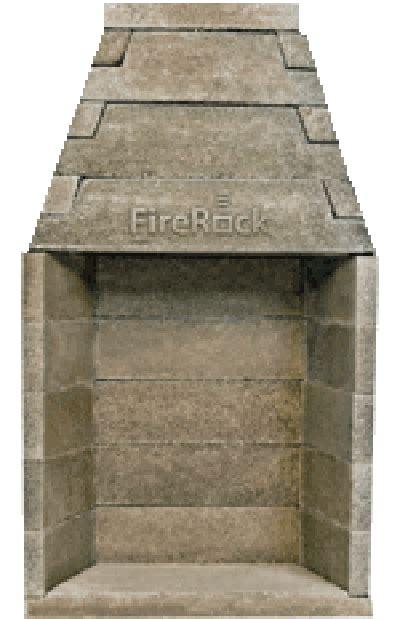 rumford fireplace kit firerock fireplaces