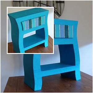 Table De Chevet Bleu : tables de chevet lpb carton ~ Preciouscoupons.com Idées de Décoration