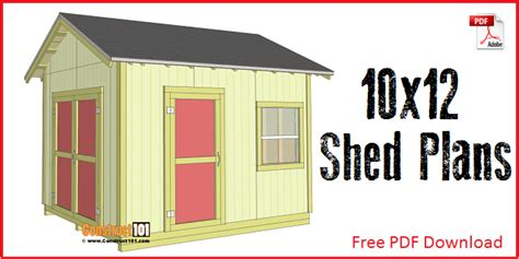 free 10x12 shed plans with loft lean to shed plans 4x8 step by step plans construct101