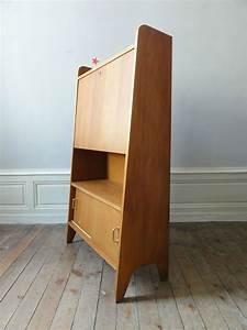 Bureau Secretaire Vintage : secretaire annees 50 chene moyen vintage moi ~ Teatrodelosmanantiales.com Idées de Décoration