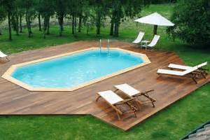 mise en place piscine enterrée terrain en pente