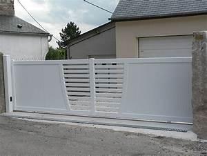 portail coulissant blanc pas cher portail 3m pas cher With portail jardin pas cher