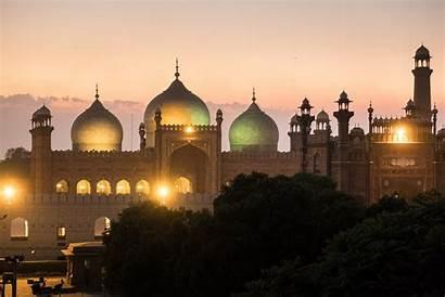 Pakistan Lahore Monuments Cultural Mosque Famous Development
